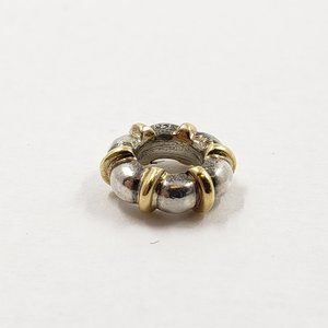 Pandora Two Tone Spacer Charm Sterling Silver-925